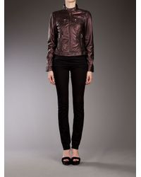 Oakwood - Brown Biker Jacket - Lyst