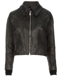 Petar Petrov | Black Goat Leather Jacket | Lyst
