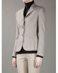 Ralph Lauren Black Label - Gray Structured Jacket - Lyst