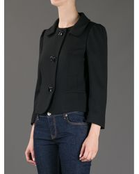 RED Valentino - Black Bow Detail Cropped Jacket - Lyst