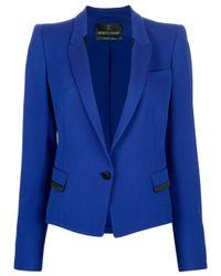 Roberto Cavalli | Blue Fited Twotone Blazer | Lyst