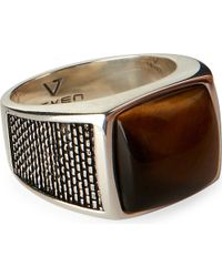 Seven London | Metallic Tigers Eye Lattice Ring for Men | Lyst