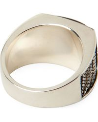 Seven London | Metallic Tigers Eye Lattice Ring for Men | Lyst