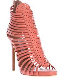 Tabitha Simmons | Pink Strippy Sandal | Lyst