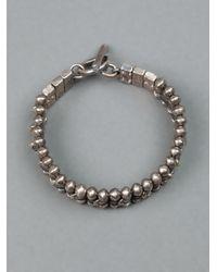 Tobias Wistisen - Metallic Chunky Beaded Bracelet for Men - Lyst