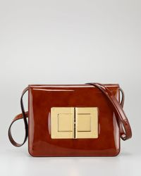 Tom Ford - Brown Natalia Large Turnlock Shoulder Bag - Lyst