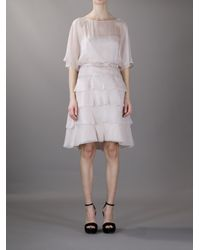 Valentino - Natural Tiered Dress - Lyst