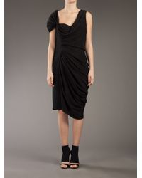 Vionnet - Black Vintage Draped Dress - Lyst