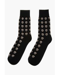 Alexander McQueen | White Skull-patterned Cotton-blend Socks for Men | Lyst