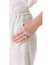 Alexis Bittar - Metallic Floral Small Cushion Ring - Lyst