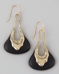Alexis Bittar | Liquid Light Golden Black Molten Lucite Earrings | Lyst