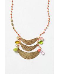 Anthropologie | Metallic Crescent Ladder Necklace | Lyst