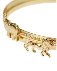 ASOS - Metallic Lion Bear Bangles - Lyst
