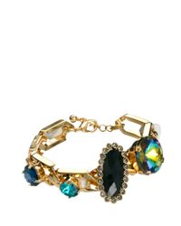 ASOS - Metallic Rainbow Jewel Link Bracelet for Men - Lyst