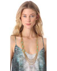 Aurelie Bidermann - Metallic Sunset Necklace with Turquoise - Lyst