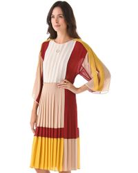 BCBGMAXAZRIA | Multicolor Gwenna Colorblock Dress | Lyst