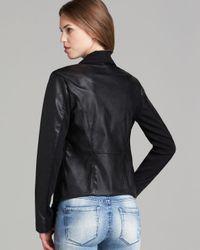 Blank NYC | Black Jacket - Faux Leather Asymmetric Zip | Lyst