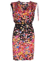 Blugirl Blumarine | Multicolor Sleeveless Floral Print Dress | Lyst