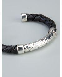 Bottega Veneta - Metallic Intrecciato Bracelet for Men - Lyst
