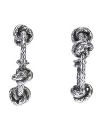 Bottega Veneta | Metallic Knot Pendant Earrings | Lyst