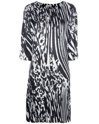 By Malene Birger | Black Nonac Printed Silk-satin Dress | Lyst