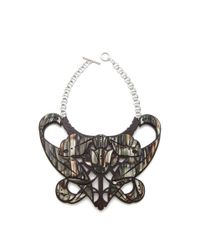 Carven - Brown Plexi Bib Necklace - Lyst