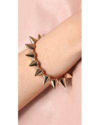 CC SKYE - Metallic Mercy Gold Spike Bracelet - Lyst