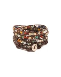 Chan Luu - Multicolor Semi Precious Stone Wrap Bracelet - Lyst