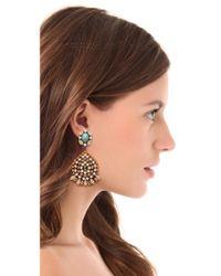 DANNIJO - Metallic Siobhan Earrings - Lyst