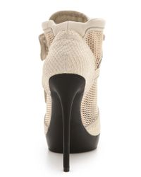 DKNY - Natural Pulse High Top Platform Booties - Lyst