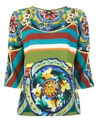 Dolce & Gabbana   Gray Blouse   Lyst