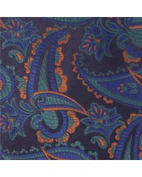 Duchamp - Blue Paisley Mix Silk Tie for Men - Lyst