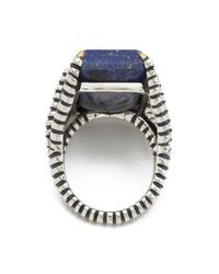 Elizabeth and James - Metallic Bird Claw Ring with Lapis - Lyst