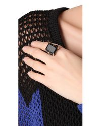 Elizabeth and James - Metallic Bird Claw Ring with Onyx - Lyst