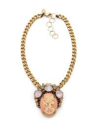 Erickson Beamon - Metallic Pretty in Punk Cameo Statement Necklace - Lyst