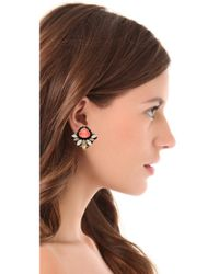 Erickson Beamon | Pink Pretty in Punk Stud Earrings | Lyst