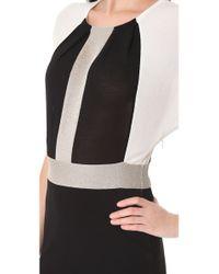 Giambattista Valli - Black Colorblock Knit Dress - Lyst