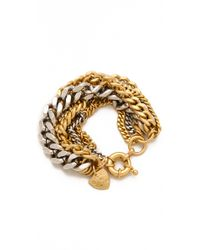 Giles & Brother - Metallic Large Multi Chain Bracelet - Lyst