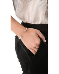 Giles & Brother - Metallic Skinny Railroad Spike Cuff - Antique Silver - Lyst