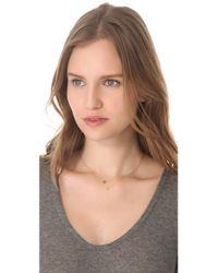 Ginette NY - Metallic Mini Tube Diamond Necklace - Lyst
