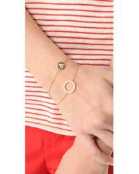 Gorjana - Metallic Cz Open Circle Bracelet - Lyst