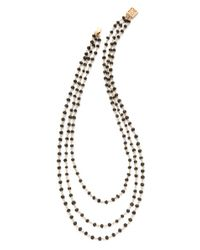 Heather Hawkins - Black Trilayer Short Necklace - Lyst