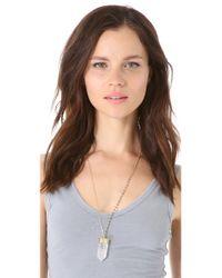 Heather Hawkins | Metallic Crystal Point Necklace | Lyst