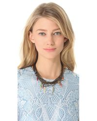 Iosselliani - Pink Multi Wires Necklace with Fused Stones - Lyst