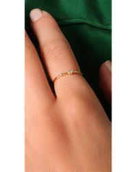 Jacquie Aiche - Metallic Double Diamond Waif Ring - Lyst