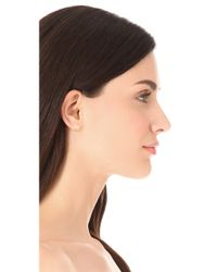 Jamie Wolf - Metallic Diamond Scallop Pave Stud Earrings - Lyst