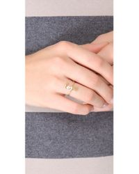 Jennifer Zeuner - Metallic Cursive Love Ring - Lyst