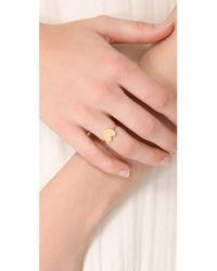Jennifer Zeuner - Metallic Heart Diamond Ring - Lyst