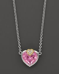 Judith Ripka | Pink Fontaine Stone Heart Pendant | Lyst