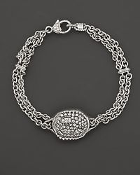 Judith Ripka - Metallic Sterling Silver Mercury Center Bracelet On Double Chain - Lyst